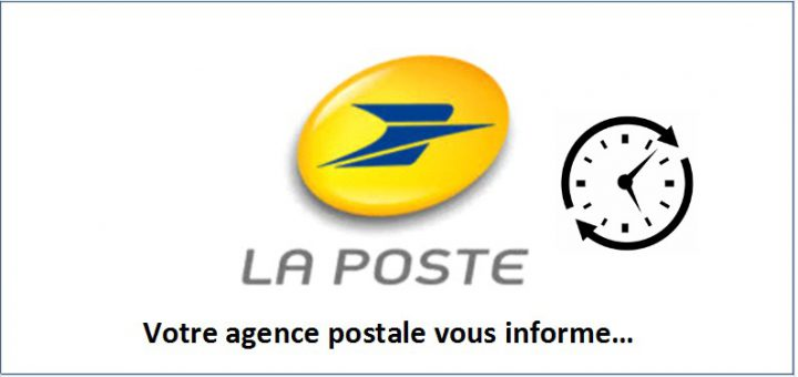 agence postale horaire