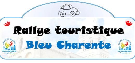 Logo Rallye Touristique Bleu Charente