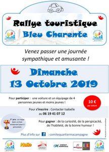 Rallye Touristique Bleu Charente