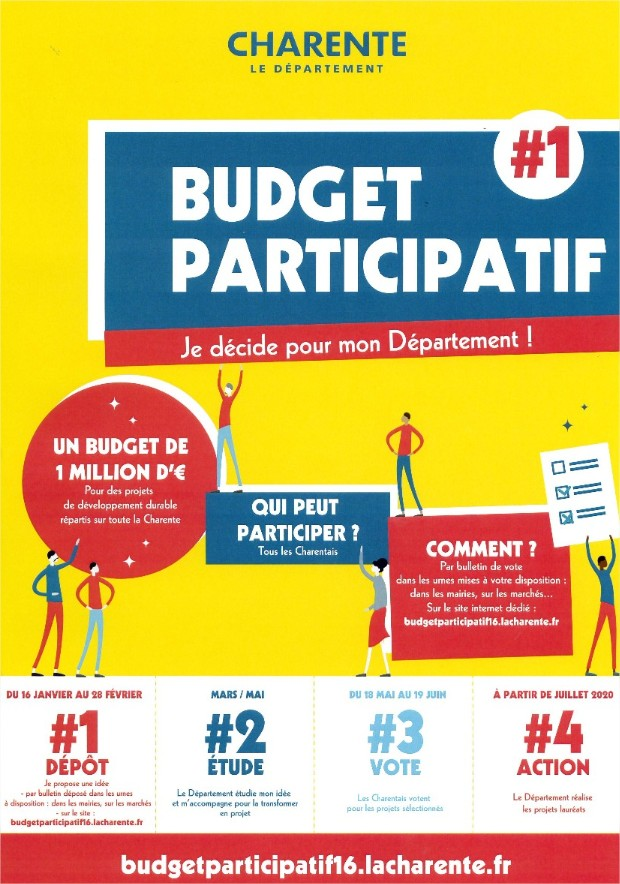 Flyer budget participatif Charentais