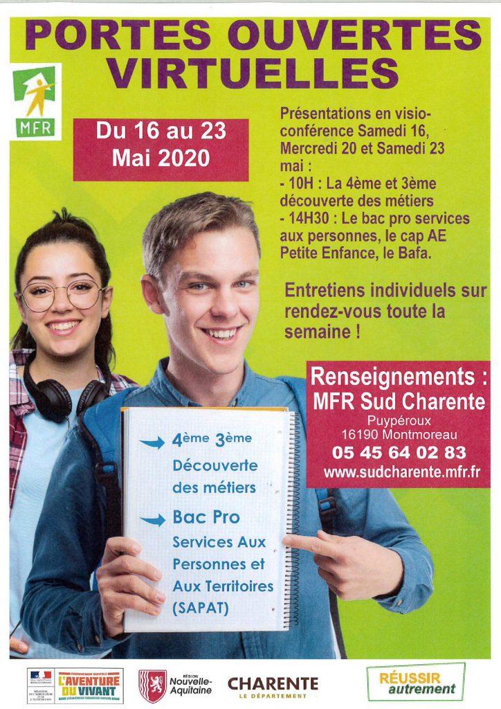 Journées portes ouvertes MFR Sud Charente 2020