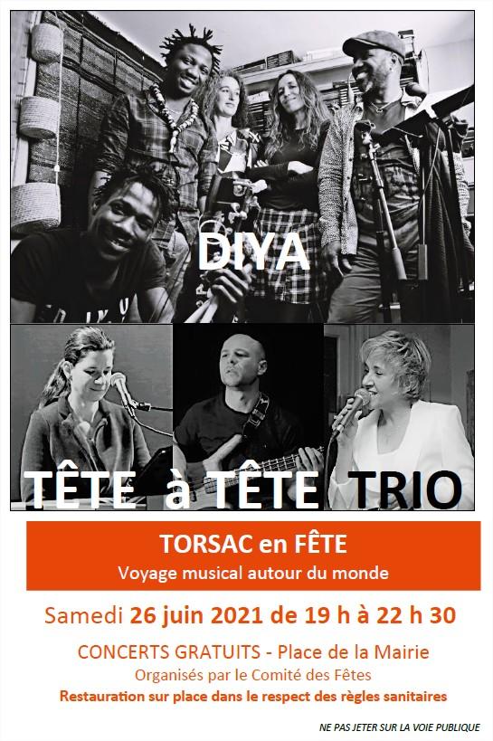 Affiche concerts diya tête à tête trio