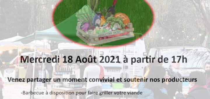 Marché gourmand 18 août 2021